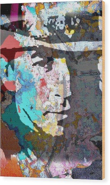 Stevie Ray Vaughan Wood Print