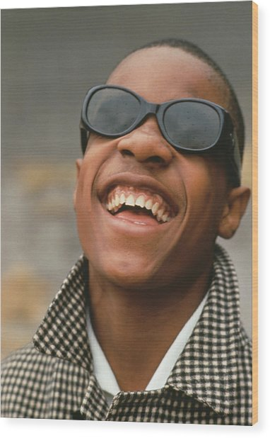 Stevie Wonder Wood Print by Archive Photos