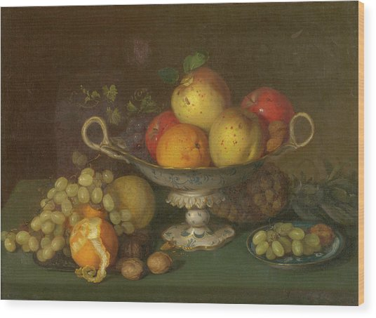 Still Life With Fruit, 1844 Wood Print