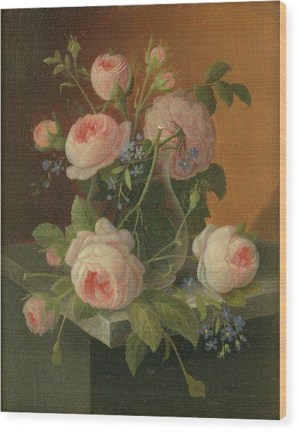 Still Life With Roses, Circa 1860 Wood Print