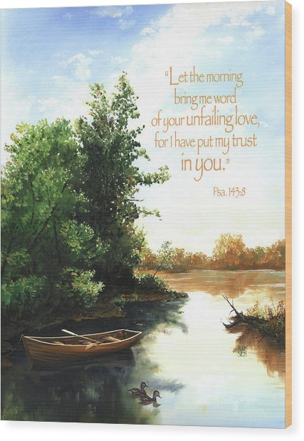 Wood Print featuring the painting Still Waters by Clint Hansen