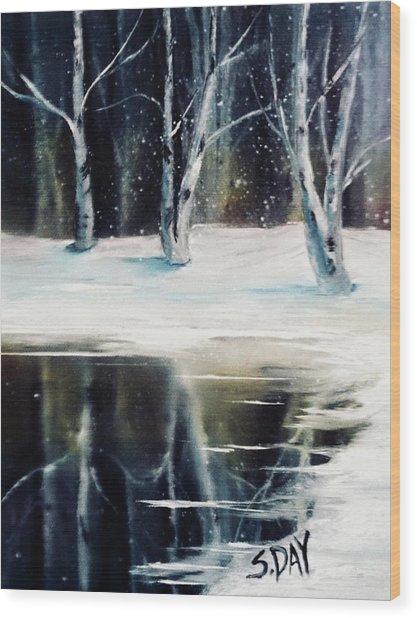 Still Winter Wood Print