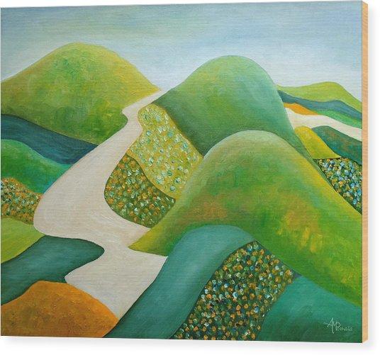Stilling Hills Wood Print