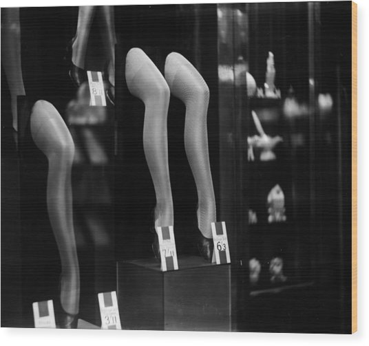 Stocking Show Wood Print by General Photographic Agency
