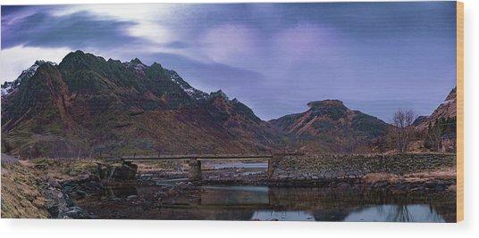 Stone Bridge On Lofoten Islands  Wood Print