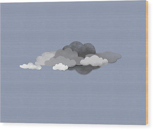 Storm Clouds Wood Print by Jutta Kuss