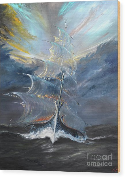 Storm Creators Beaufort Sea Wood Print