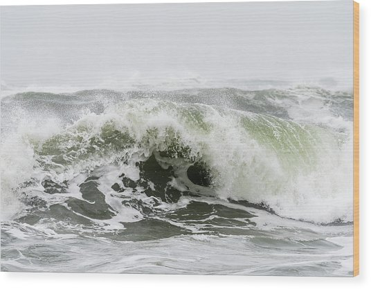 Storm Surf Spray Wood Print