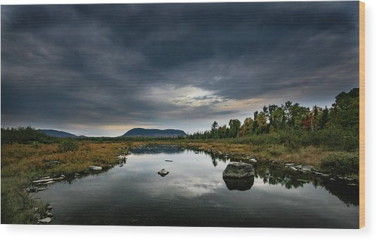 Stormy Day In Maine Wood Print