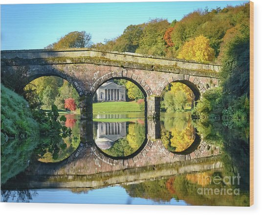 Stourhead Autumn Wood Print