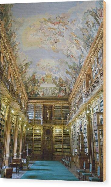 Strahov Library, Prague, Czech Republic Wood Print by Gavin Gough