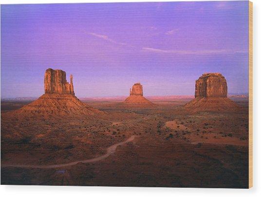 Strange Afterglow Illuminates Monument Wood Print