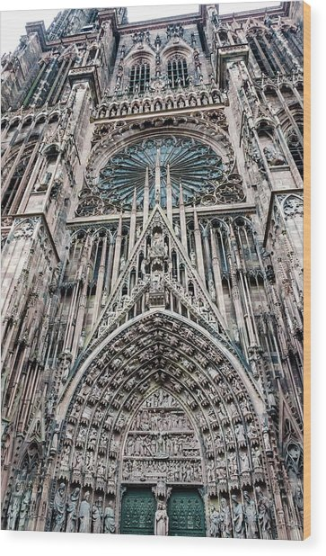 Strasbourg Cathedral Wood Print