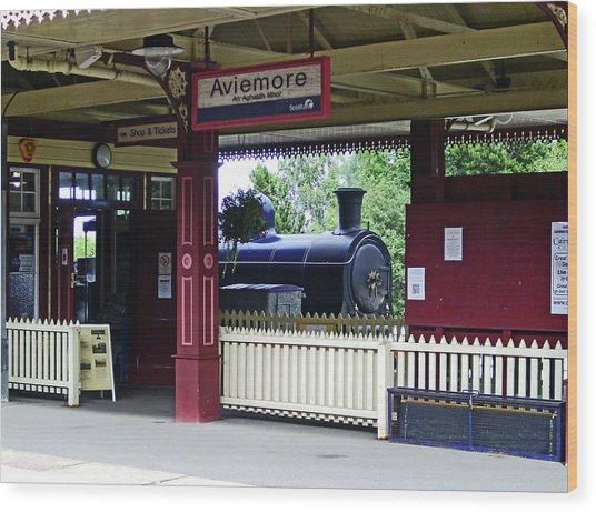 Strathspey Railway. Caladonian Railway 828 Wood Print