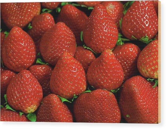 Strawberry Cliche Wood Print by By Ken Ilio