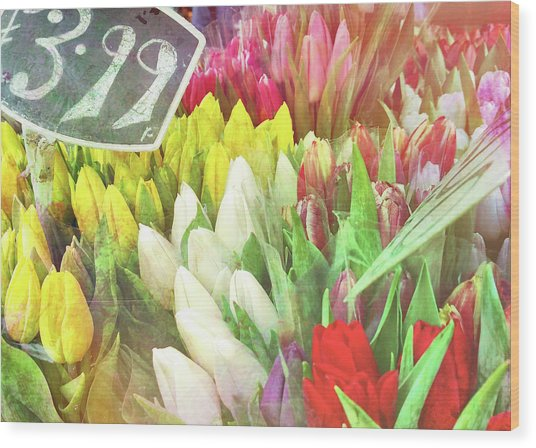 Street Bouquets Wood Print by JAMART Photography