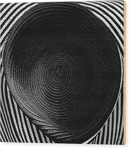 Striped Hat Wood Print