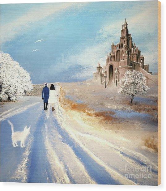 Stroll Through Winter Fantasy Land Wood Print