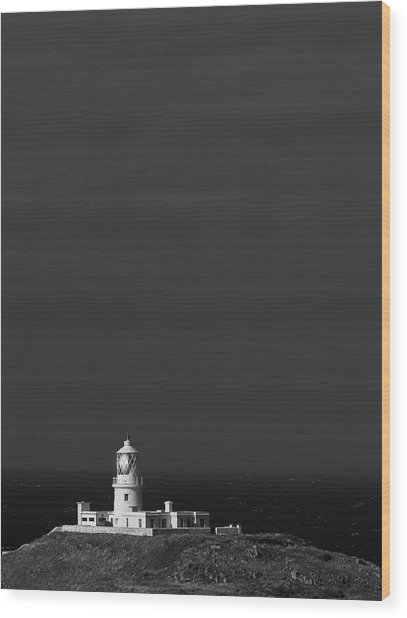 Wood Print featuring the photograph Strumble Head Lighthouse by Elliott Coleman