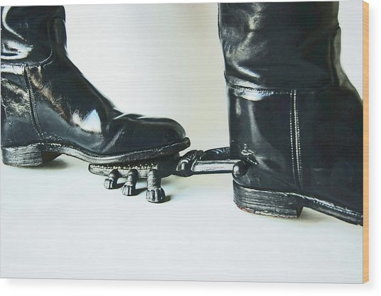 Studio. Boots And Boot Pull. Wood Print
