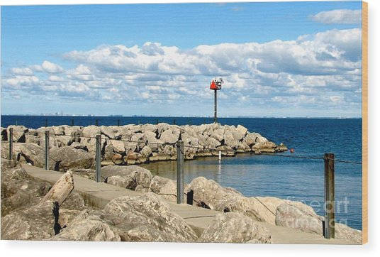Wood Print featuring the photograph Sturgeon Point Marina On Lake Erie by Rose Santuci-Sofranko