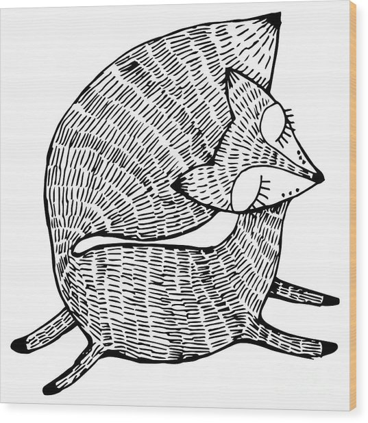 Stylized Fox. Forest Animals. Cute Fox Wood Print