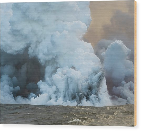 Wood Print featuring the photograph Submerged Lava Bomb by William Dickman