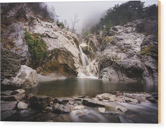 Suchurum Waterfall, Karlovo, Bulgaria Wood Print