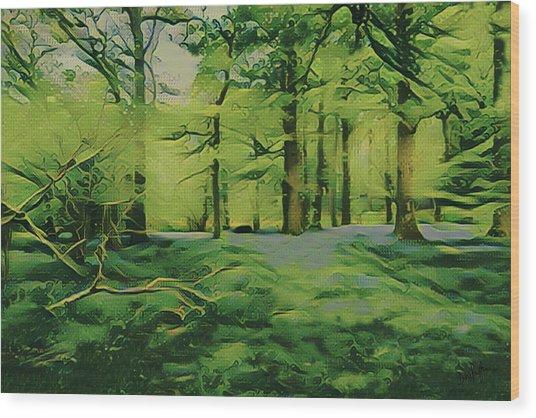 Summer Morning Mist Wood Print