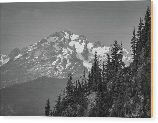 Summer Peak Wood Print