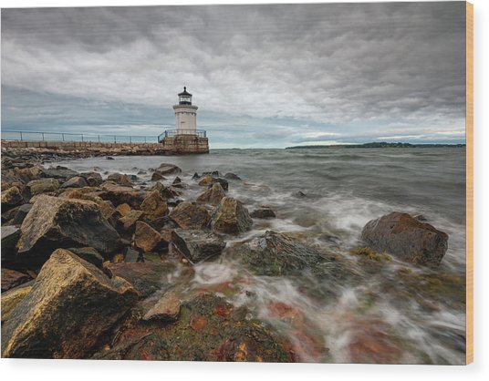 Summer Tides At Bug Light Wood Print
