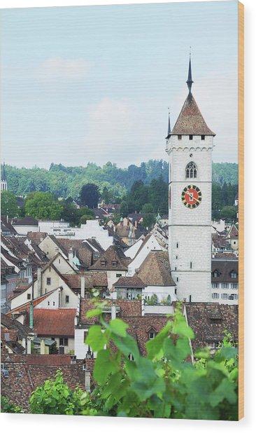 Summer View Of Schaffhausen Wood Print by Oks mit