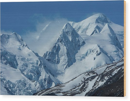 Summer Winds In Mount Cook National Park Wood Print