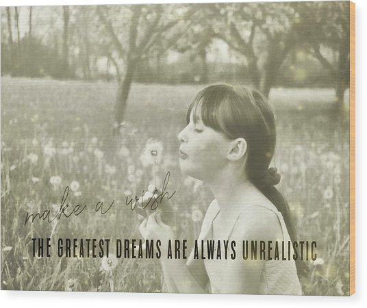 Summer Wish Quote Wood Print by JAMART Photography
