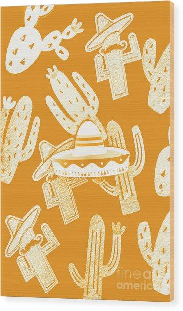 Summerbrero Wood Print