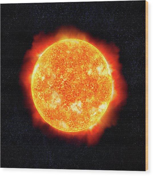 Sun & Stars Wood Print by Ian Mckinnell