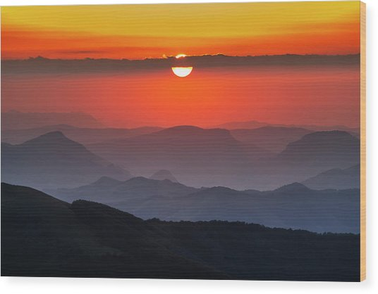 Sun Eye Wood Print
