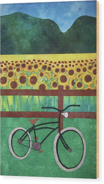 Sunflowers At Whitehall Farm Wood Print