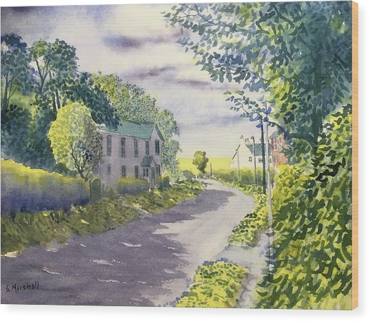Sunny Side Of The Street Wood Print