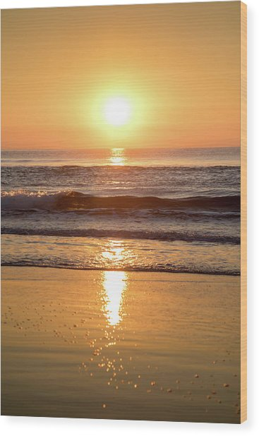 Sunrise At Surfers Paradise Wood Print