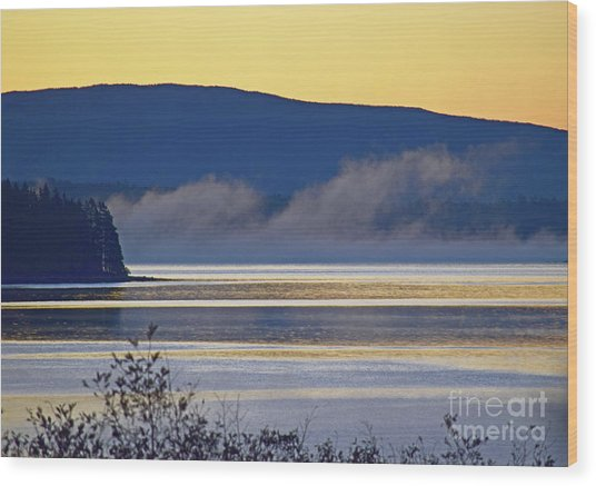 Wood Print featuring the photograph Sunrise Behind Cadillac by Patti Whitten