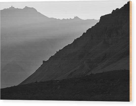 Sunrise In The Himalayas Wood Print