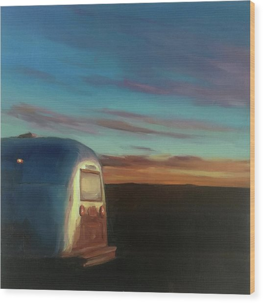 Sunrise Near Amarillo Wood Print