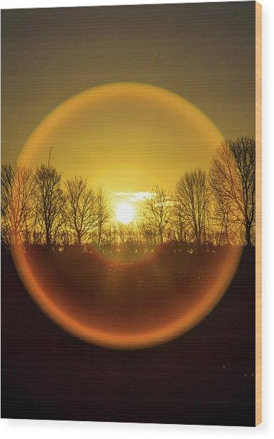 Sunrise. New Years Eve. Wood Print