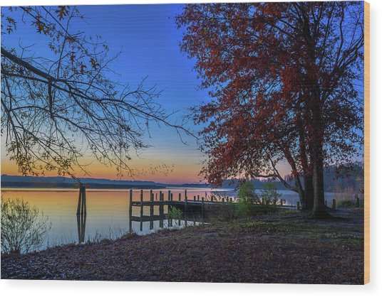Wood Print featuring the photograph Sunrise On The Patuxent by Cindy Lark Hartman
