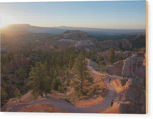 Sunrise Over Bryce Canyon Wood Print