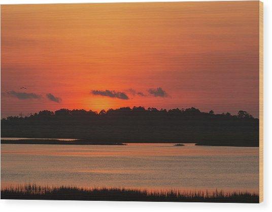 Sunrise Over Drunken Jack Island Wood Print