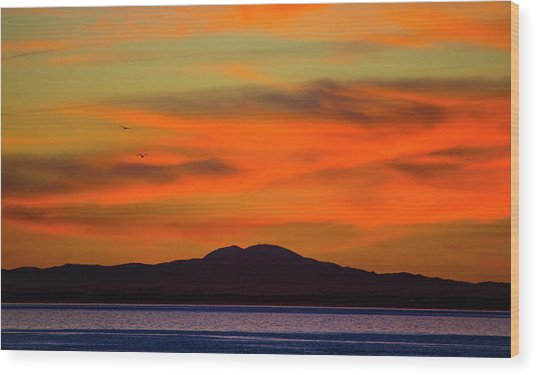 Sunrise Over Santa Monica Bay Wood Print