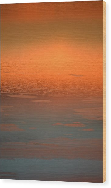 Sunrise Reflections Wood Print