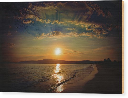 Wood Print featuring the photograph Sunset Artistry by Milena Ilieva